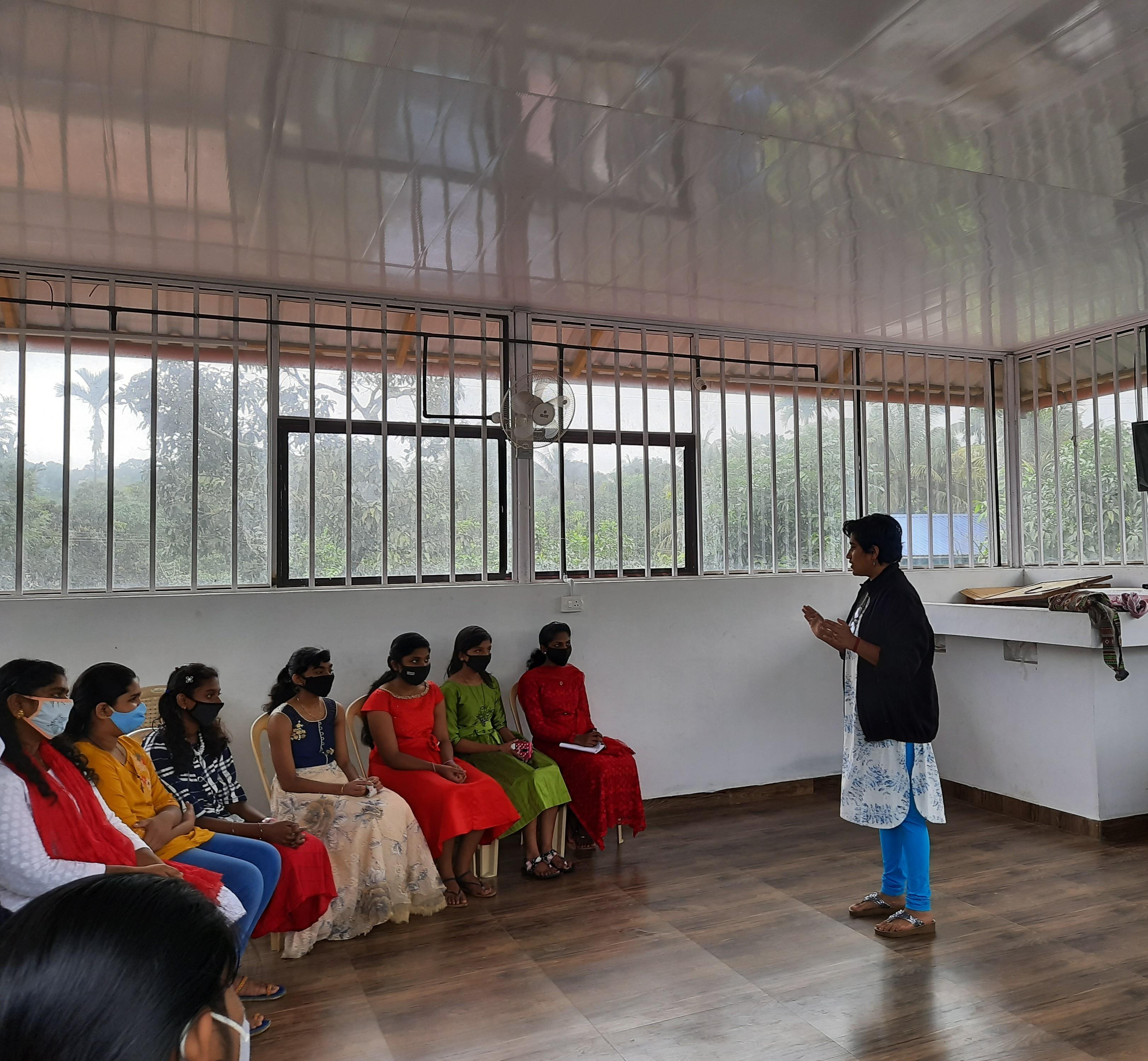 ambassador Lakshmi giving session