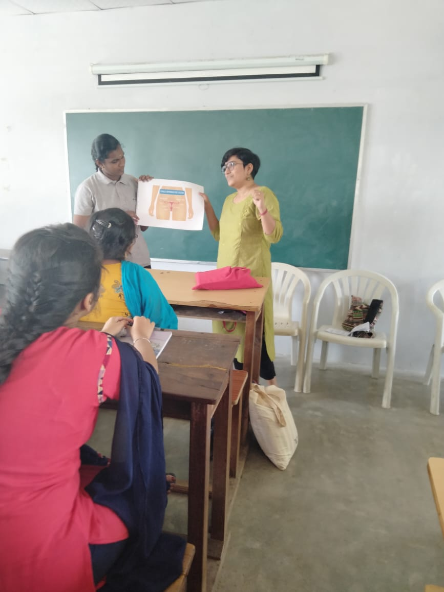 awareness session in school class by Lakshmi Das